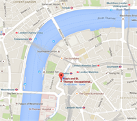 Location of Guy's and St Thomas' occupational health service on Google Maps